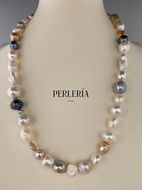 Collar Perlas cultivadas colores