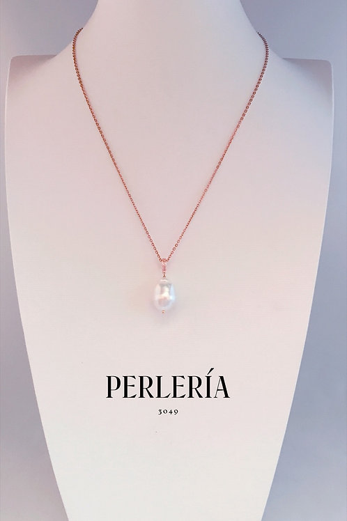 Cadena rose gold y Perla