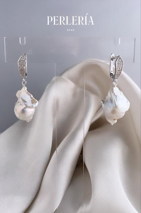 Aretes perla nucleada