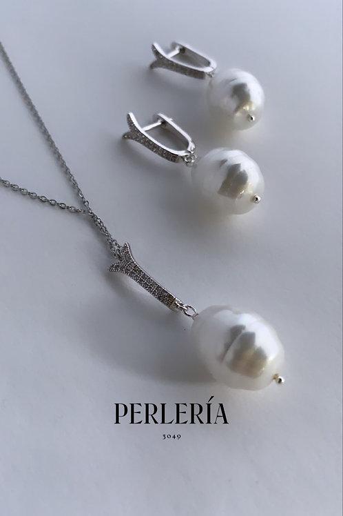 Juego de perlas tipo concha