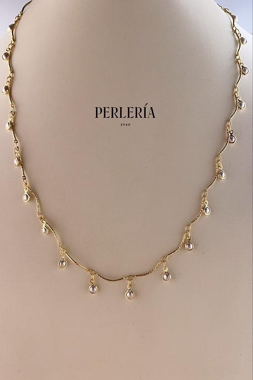 Cadena perlitas colgantes
