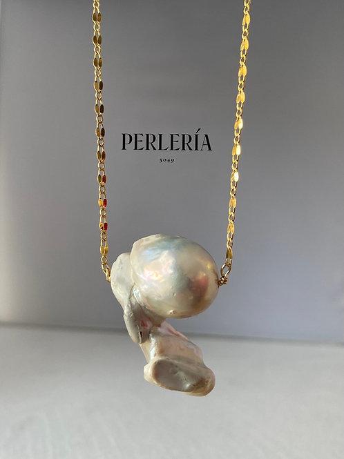 Cadena de Chapa con perla nucleada