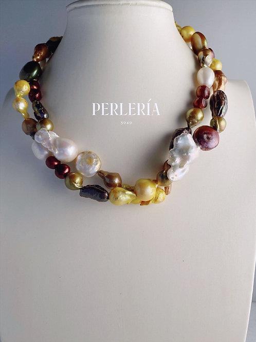 Collar Perlas mix