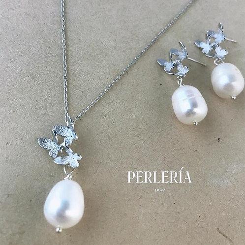 Juego de perla y mariposas