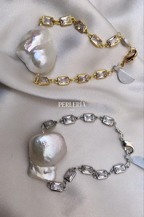 Pulsera perla nucleada