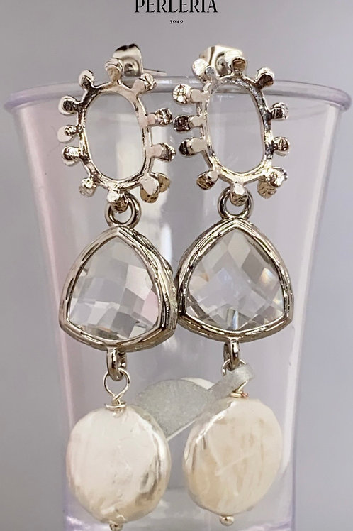 Aretes cristal clear