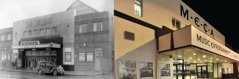Swindon MECA, from old Regent Cinema to Cultral centre still showing FIlm