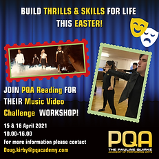 Explainer acting and Commercial Dance for Young People PQA Reading