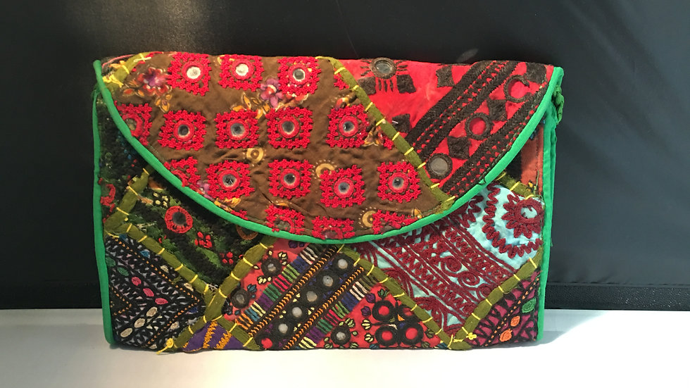 Antique patchwork Clutch