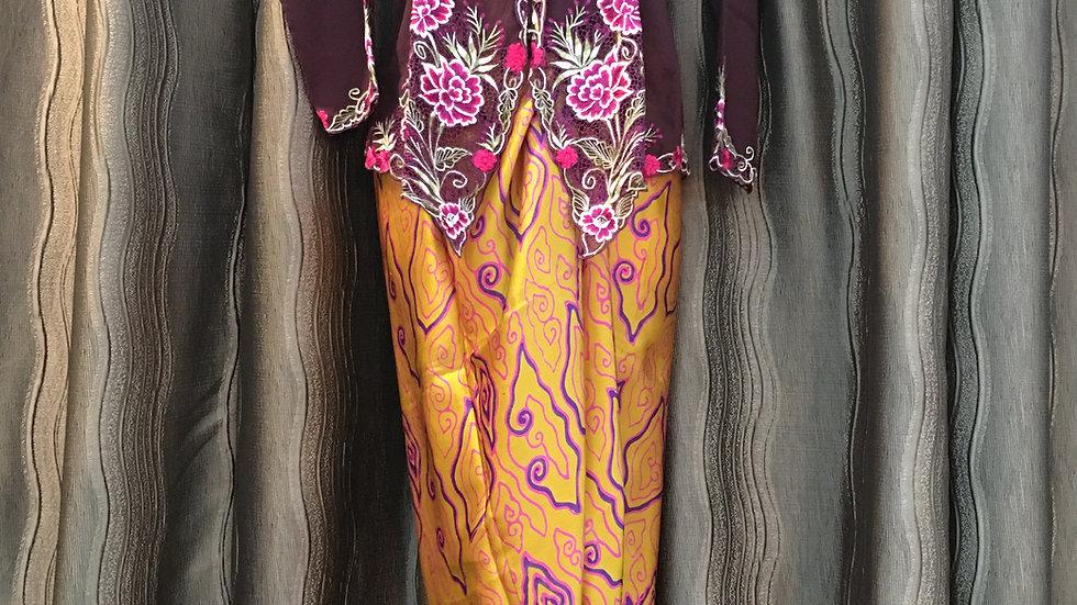 Purple & Yellow Kebaya Set
