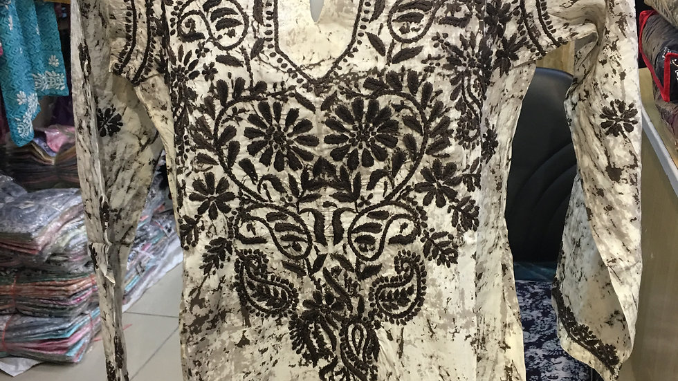 Batik Kurti- Brown