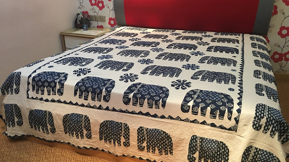 Elephant Applique Bedspread