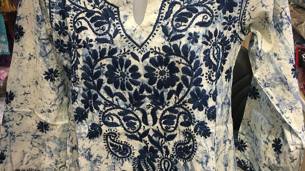 Batik Design Kurti- Blue