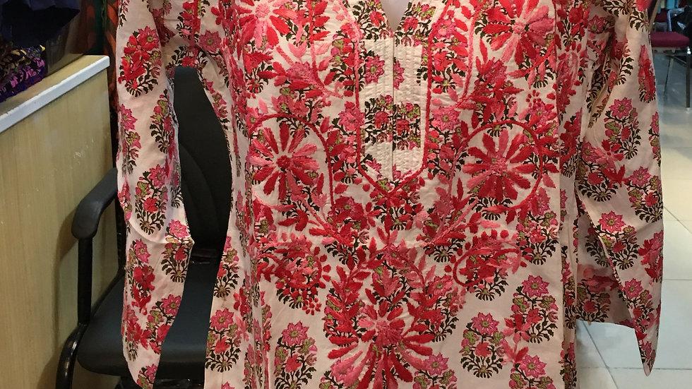 Red Floral print kurti