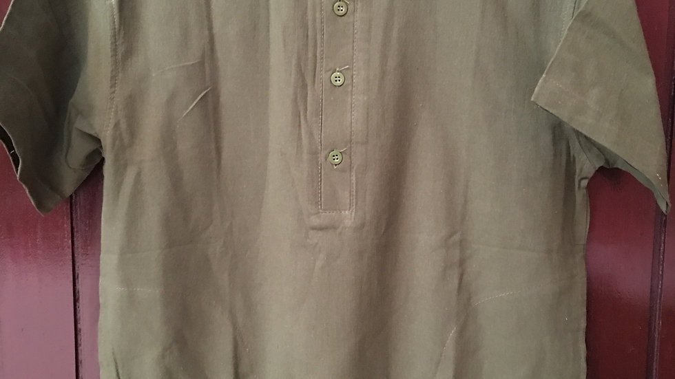 Green cotton mens top
