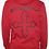 Thumbnail: Oxblood Organic Unisex Cotton Hooded Sweatshirt