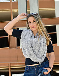 Bufanda Mágica Plata Chica cerca