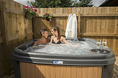luxury lodge with private hot tub york