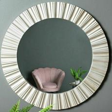 Ribbed Circle Mirror