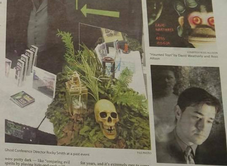 Ross and Haunted Toys featured in Oregon paper