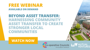 Catch up on our webinar: Harnessing Community Asset Transfer To Create Stronger Communities