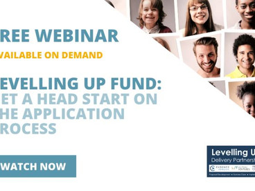 Catch up on our webinar – Levelling Up Fund: getting a headstart