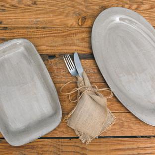 Linen White Platters