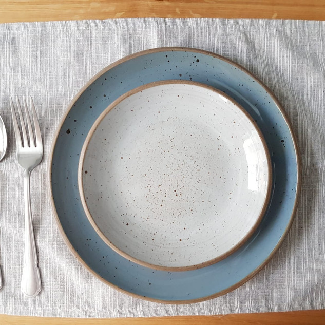 Speckled Blue and Grey Plates