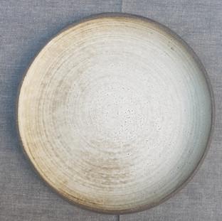 Vintage White Dinner Plate 24cm