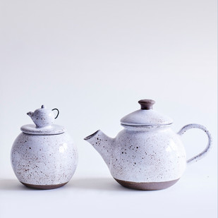 Ceramic Goose Egg-Tea Pot-Container