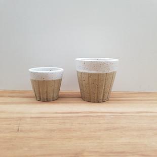 Half Glazed Cups