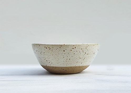 White Speckled Soup Bowl 16cm