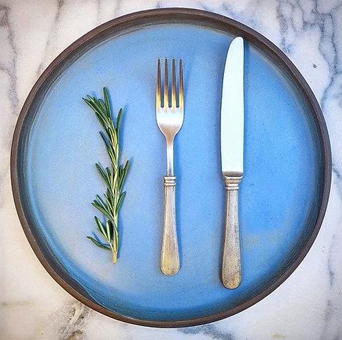 Matte Blue Platter 30cm