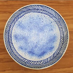 Blue Speckled Big Serving Bowl