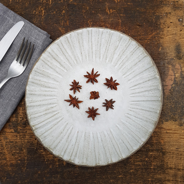 Pepper Clay Star Plate