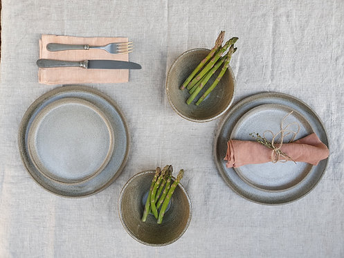 Natural Grey Dinner Set for 2