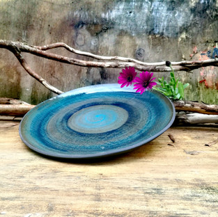 Ocean Blue Dinner Plate