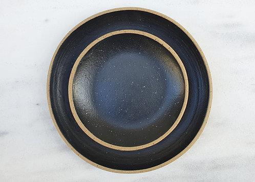 Black Speckled Side Plate 19cm