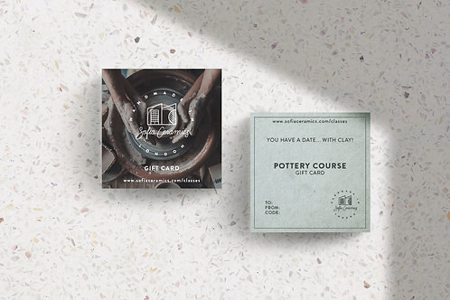 Pottery Courses Digital Gift Card