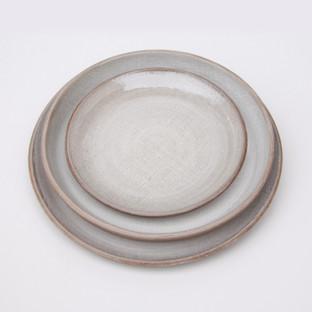 Ceramic Ivory Linen 3 Plates Dinner Past