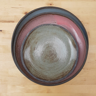 Rustic Plates Colors Sage Green, Willow Blue, Pink