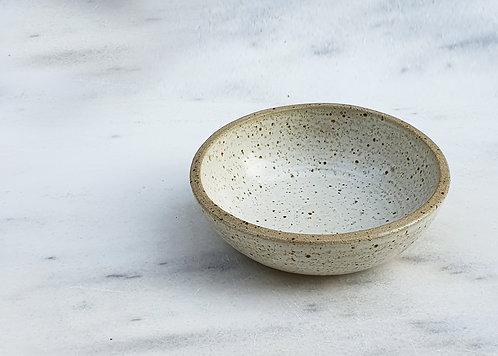 White Speckled Ice Cream Bowl 15cm