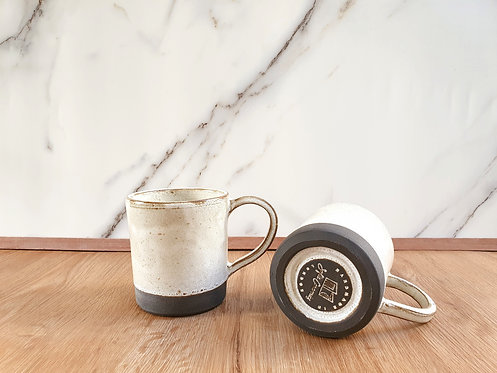 Rustic White Coffee Mug