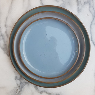 Blue Grey & teal Plates