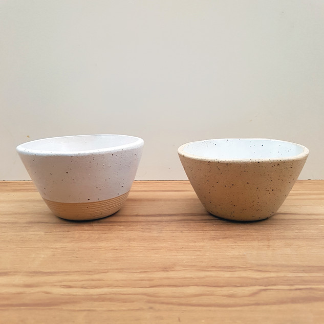 Salad Bowls Glazed and Unglazed