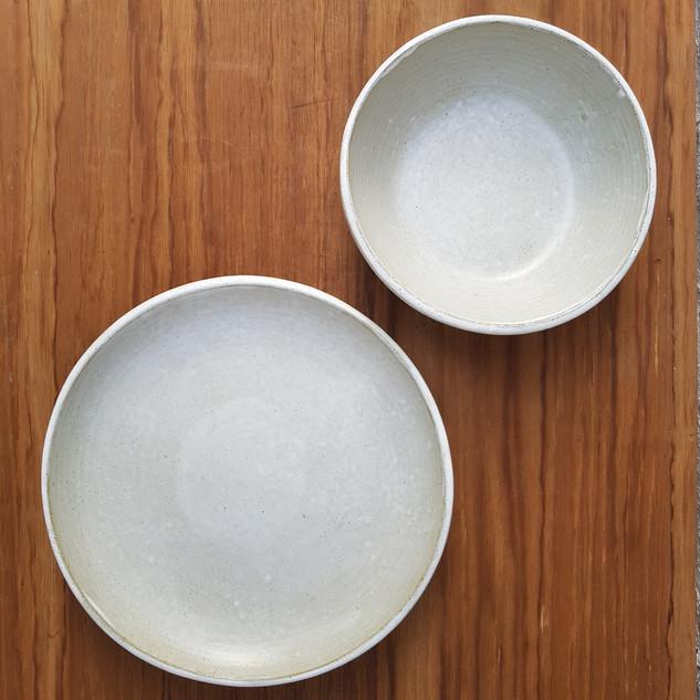 White Matte Small Dinner & Small Gabi Bowl