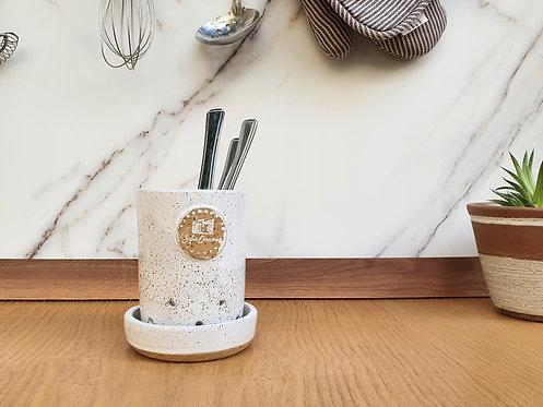 Vanilla White Cutlery Drainer