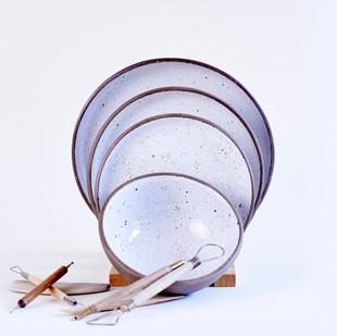 Ceramic Goose Egg Plates