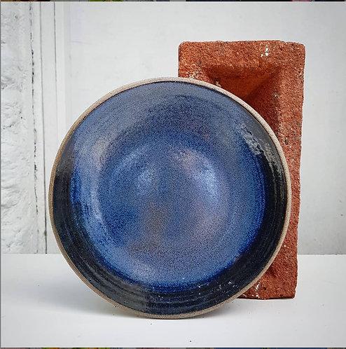 Wave Blue Side Plate 19cm