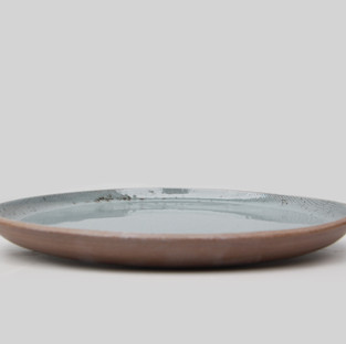 Ceramic Grey Linen Dinner Plate